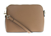 Canal Collection Faux Saffiano Zip Top Cross-Body Bag