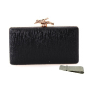 Taidaf-PU Series- Fashion Bark Pattern with Branches Clasp Evening Bags Clutch Chains Purses+Money Clip