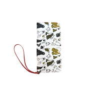 D-Story Smooth Fox Terrier White Womens Clutch Wallet