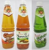 AVP Hitham Syrup Combo Pack ( Nannari + Aloevera + Ginger ) - Each 750ml