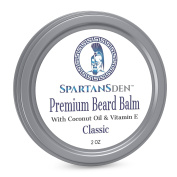 Spartans Den Premium Beard Balm For Men | Coconut Oil & Vitamin E Infused | Best Conditioner For Grooming, Growth, Soften, Itch & Tame - Classic Scent 60ml