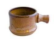 Hand Thrown Apothecary Mug with Handle, Rustic Brown