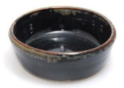 Hand Thrown Lather Bowl, Black & Gold