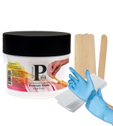Sugaring Wax Paste with Strips, Applicator and Gloves Hair Removal Paste for Bikini Brazilian Legs and Arms