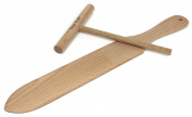 Crepe Spreader and Spatula Crepe Making Tools. 2 Piece Set Includes One 36cm Crepe Turner and One 13cm Crepe Spreader. Made of Beechwood and Seasoned with Mineral Oil. by Crepe Scott