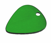 TEN (10) Anodized Aluminium Green Guitar Picks with Pre-Drilled Hole, Finished Blanks for Hand Stamping - 22 Gauge