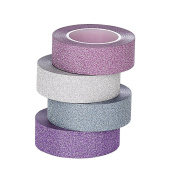 ST Glitter Washi Tape collection ,1.5cm X 10 Yards each,Pack of 4