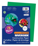 Pacon Riverside Construction Paper, 23cm x 30cm , 50-Count, Holiday Green
