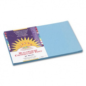 Construction Paper, 26kg., 12 x 18, Sky Blue, 50 Sheets/Pack 7607