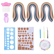 Outus Paper Quilling Set with 26 Colour Quilling Papers and Quilling Tools, 11 Pieces