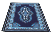 RaanPahMuang African Dashiki Colour Cotton Fabric Suitable for 1 Shirt Design, Midnight Blue