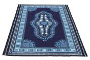 RaanPahMuang African Dashiki Colour Cotton Fabric Suitable for 1 Shirt Design, Midnight Blue