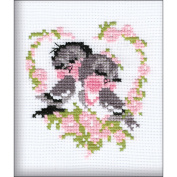 First Love Counted Cross Stitch Kit-13cm x 16cm 10 Count