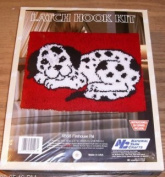 Fireplace Pal - Latch Hook Kit - Features A Cute Dalmatian Puppy Laying Down.
