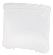 IRIS USA 586390 Slim Portable Project Case (10 Pack), Clear