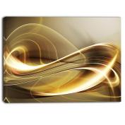 "Designart PT6846-80cm - 41cm Elegant Modern Sofa Abstract Digital"" Canvas Print, Gold/Grey, 80cm x 41cm"