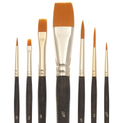 Bianyo Fine Paint Brushes.Nylon Hair Flat & Liner Brush Set for Detail Work,Oil,Watercolour,Acrylic Paint. Pack of 7