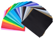 iImagine Vinyl 72-Sheets of Premium Permanent Self Adhesive Vinyl Sheets, 30cm x 30cm , Assorted Colours (Glossy, Matte and Metallic) for Craft Cutters, Cricut, Silhouette Cameo Machines