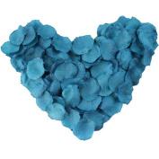 EMAXELER [Broken Girls Flowers]1000pcs Dark Turquoise Blue Silk Rose Flower Petals for Wedding Table Confetti Bridal Party Flower Girl Decoration 1000pcs Dark Turquoise Blue