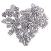 EMAXELER [Broken Girls Flowers]1000pcs Sliver Silk Rose Flower Petals for Wedding Table Confetti Bridal Party Flower Girl Decoration 1000pcs Sliver