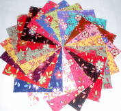 """60 13cm Quilting Fabric Sqs/beautiful """"Happy""""charm Pack"""