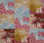Furoshiki Wrapping Cloth Bunny Rabbit Collection Motif Japanese Fabric 50cm