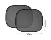 Pishmount Baby Car Sun Shade for Side Window,Back,Pack of 2 + 4 FREE Suction cups