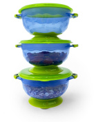 3 Medium Size 2nd Stage Suction Baby Bowls-Hold 240ml-Perfect for Babies & Toddlers, Baby Shower Gift-To Go BabieB
