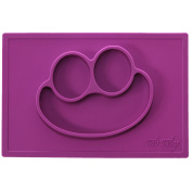 Mess Free-Stress Free Silicone Baby & Kids Feeding Placemats by Two Twigs - Placemat & Plate - All-In-One - FDA Approved, BPA Free