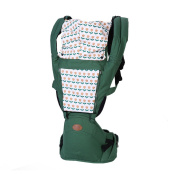 BINGONE Comfortable Breathe Freely Style Multi-function Soft Toddler Baby Carrier with Wood and Sun Shade Green