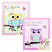 Set of Two Beautiful Baby Photo Albums for Girls, Each Album Holds 80 4X6 Photos