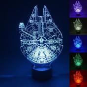 3D LED Light,Multi 7 Colour Charge Button LED Desk Table Light Lamp Bedroom Children Room Decorative Night Light
