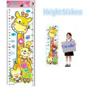 Hot Sales Baby Children Kids Height Sticker Cartoon Giraffe Animal Growth Height Chart Wall Sticker Home Decor
