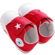 WAYLONGPLUS Prewalker Infant Canvas Soft Sole Anti-Slip Crib Shoes Star Print slip-on Sneaker