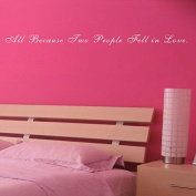 Pop Decors WL-0128-Va Inspirational Quote Wall Decal, All Because Two People Fell in Love