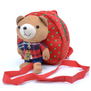 Babyhugs® Kids Walker Saftey Harness Back pack with detachable soft toy Reins - Red Bag with Cute Teddy Bear
