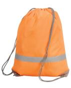 New Shugon Stafford Drawstring Tote Bag Water Resistant Reflective Strip Bags