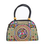 Ucsports Traditional Women's Embroidered handbags Double-sided embroidery bag Messenger Bag
