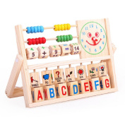 Kid's Toys, Xinantime Learning Developmental Versatile Flap Abacus Wooden Toys