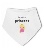 Im Really a Princess funny - Baby Bandana Bib