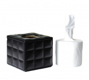 Leather Square Roll Paper Box Tray Pumping Car Tissue Box Holder