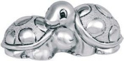 CHILDRENS SILVER TORQUE TURTLE KIKKE CM8.5 X 4 SILVER LAMINATE MADE IN ITALY