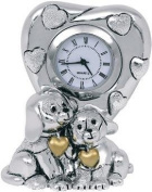 DOG'S WATCH KIKKE GOLD ENAMEL SILVER CM10 X 8-LAMINATE SILVER, MADE IN ITALY