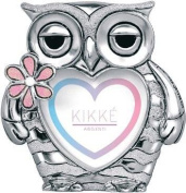 PHOTO HOLDER KIKKE OWL SILVER PINK ENAMEL CM12 X 10 SILVER LAMINATE MADE IN ITALY