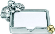 FOR POST-IT'S SILVER TURTLE KIKKE CM10 X 10 SILVER LAMINATE MADE IN ITALY