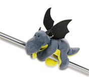 NICI 39801 Plush Dragon MagNICI Anthracite/Neon Green