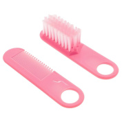 GGG 2pcs/set Baby Care Safety Hairbrush Comb Massager Grooming Tool Shower Kit