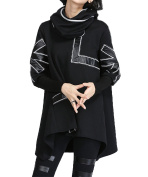 MeMoreCool Women Printed Autumn and Winter Hooded Coat Loose Long Outwear