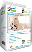 Andy Pandy Premium Bamboo Disposable Baby Nappies - Large (9-14kg) - 70 ct