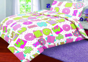 Love2Sleep COTTON RICH PRINTED DUVET COVER WITH PILLOWCASE - NUMBERS : SINGLE